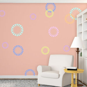 wall stencils circle shape firecracker stencil for modern wall