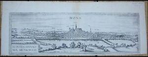 Constructif Belgique Mons Montagnes Cuivre Clés Vue De 1580-afficher Le Titre D'origine Grandes VariéTéS