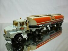 MAJORETTE SCANIA 140 SUPER TRUCK + TANKER - ESSO 1:60 - GOOD CONDITION
