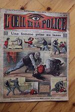 Rarissime L' OEIL DE LA POLICE 1A/26 Une Femme prise au Lasso