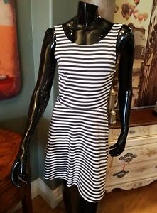 American Eagle Striped Cross Back Skater Flare Dress Size