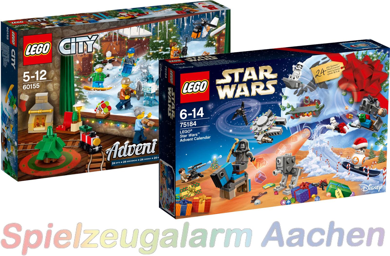 LEGO ® CALENDRIER DE L'AVENT CITY CITY CITY 60155  75184 Star Wars ADVENT CALENDAR 2017 | Outlet Online Store  0868e0