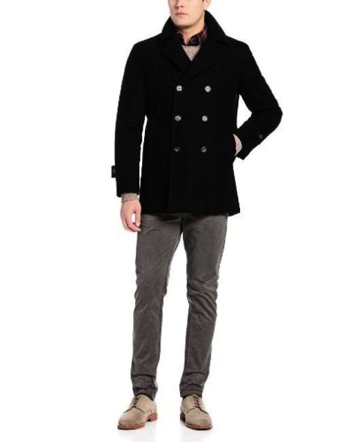 Tommy Hilfiger Men S Brady Double, Tommy Hilfiger Peacoat With Hood
