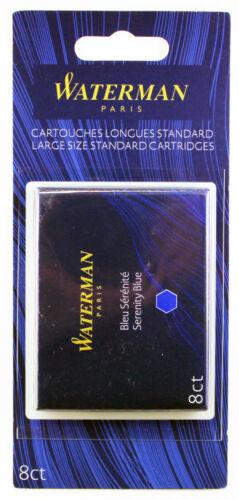 Waterman Refill Fountain Pen Large Size Standard Cartridges Blue Ink 52022