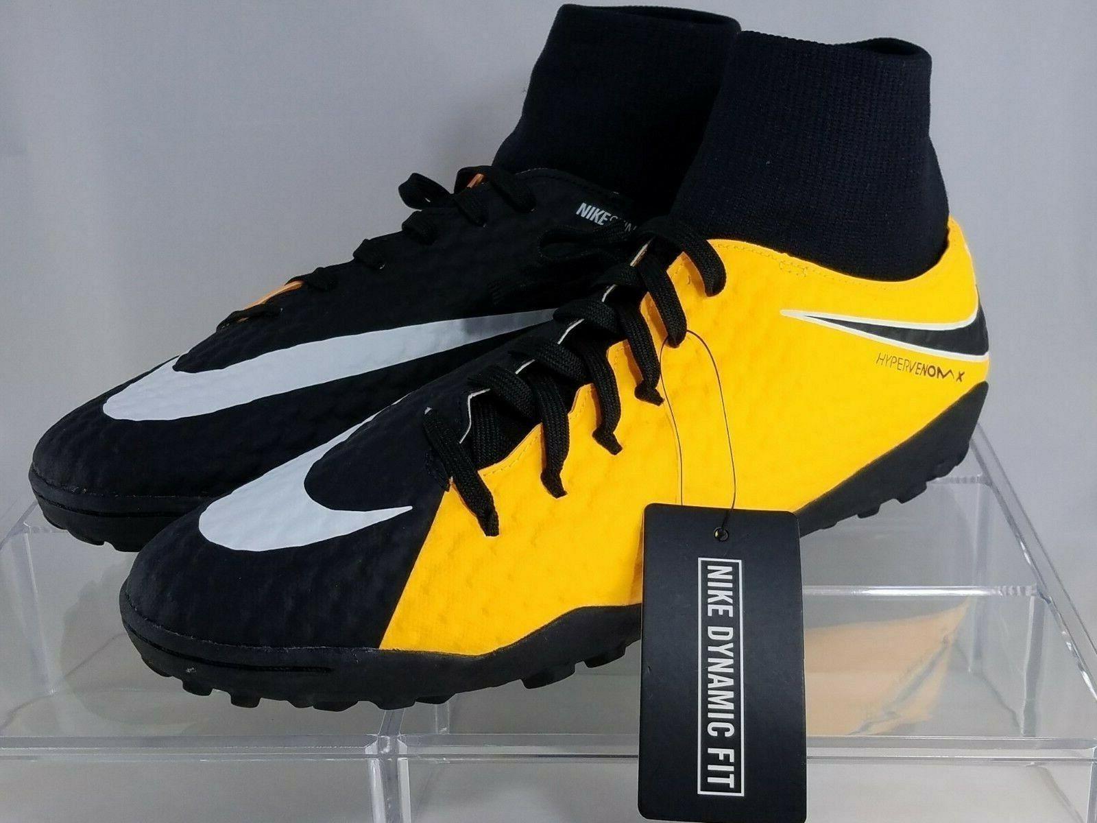 NIKE HyperVenom Phelon 3 DF TF orange Indoor Soccer shoes Size 10.5 917769-801