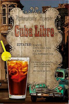 "Schild Vintage /""Cuba Zigarre/"" 20 x 30 cm Blechschild"