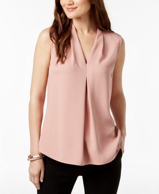 1da47008fe280 Nine West Women s Pink Center-pleat Sleeveless Top Size S