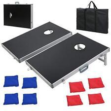 CornHole Bean Bag Toss Game Set Aluminum Frame Portable Design W/ Carrying Case