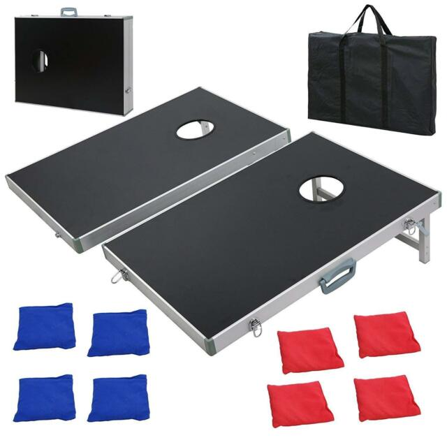 Board Toss Set Mdf Wood 8 Bean Bags W Carrying Case