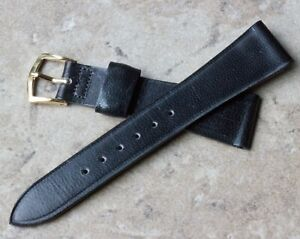 Short-pinpoint-Goatskin-17-3mm-11-16-tapered-vintage-watch-strap-NOS-1960s-70s