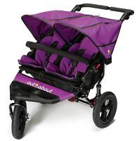 Brand Boxed Out N About Nipper 360 Double Pushchair V4 In Purple Punch & Pvc