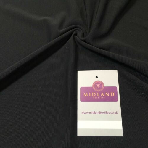 "Lightweight Plain Black stretch elastane net mesh dance fabric 58/"" M720-30 Mtex"