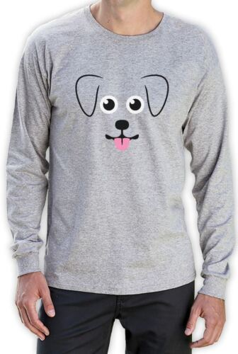 Puppy Face Gift for Dog Lovers Cute Funny Long Sleeve T-Shirt Animal Lover