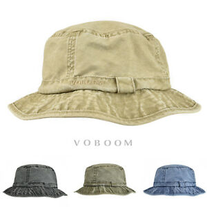 dcad615d16c Image is loading Retro-Washing-Cotton-Bucket-Hat-Boonie-Hunting-Fishing-