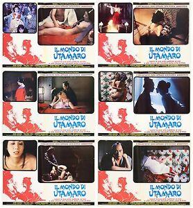 THE-MONDO-DI-UTAMARO-FOTOBUSTA-6-PZ-1977-Yume-to-shiriseba-LOBBY-CARD