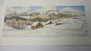 "/"" Last Dollar Road /"" by Jon Crane signed mini Print Mountains Farm"