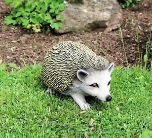 Garden-ornament-hedgehog-lawn-patio-animal-large-27cm-long-Decor