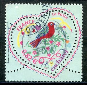 SystéMatique Stamp // Timbre France Oblitere N°3748 / St Valentin Coeur Cacharel