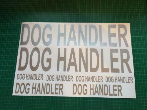 DOG HANDLER Sticker Pack k9 Handler  Doorman K9 unit Car Door  x 8