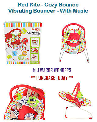 2019 Latest Design Red Kite - Cozy Bounce - Vibrating Bouncer - With Music - Chair, Carnival