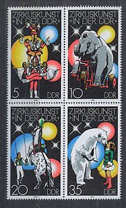 ALEMANIA-RDA-EAST-GERMANY-1978-MNH-SC-1952-55-Circus-in-GDR