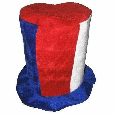 RED /& BLUE CRAZY PARTY NOODLE HAT dress up hats caps werid jester headwear new