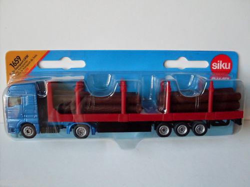 h0 art.1659 Nuovo Siku Super Serie 1:87 Legno-Trasporto-Camion Confezione Originale