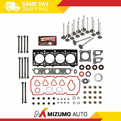 Head Gasket Set Intake Exhaust Valves Fit 96-99 Dodge Plymouth 2.0L ECB