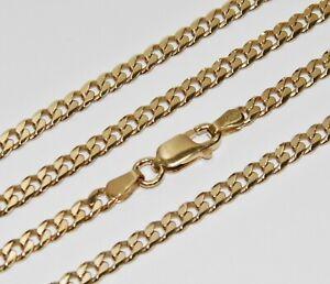 """Oro Amarillo 9ct en cadena de cordón de plata - 3mm - 16"""" 18"""" 20"""" 22"""" 24"""" 26"""" 30"""""""