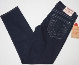 NWT-199-True-Religion-Slim-Stretch-Denim-Jeans-Mens-33-34-36-38-Dark-Blue-NEW
