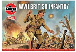 96-x-AIRFIX-1-76-WW1-BRITISH-INFANTRY-VINTAGE-MODEL-KIT-SOLDIERS-WWI-A00727V