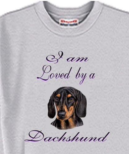 I am Loved by a Dachshund Rescue Men Women A Cat Dachshund Dog T Shirt