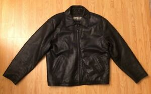 Excelled Black Leather Motorcycle Jacket Sz 46 Medium