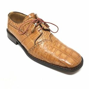 detailed images the sale of shoes hot-selling cheap Details about Men's David Eden Oxfords Dress Shoes Size 8.5M Brown Full  Genuine Alligator C14