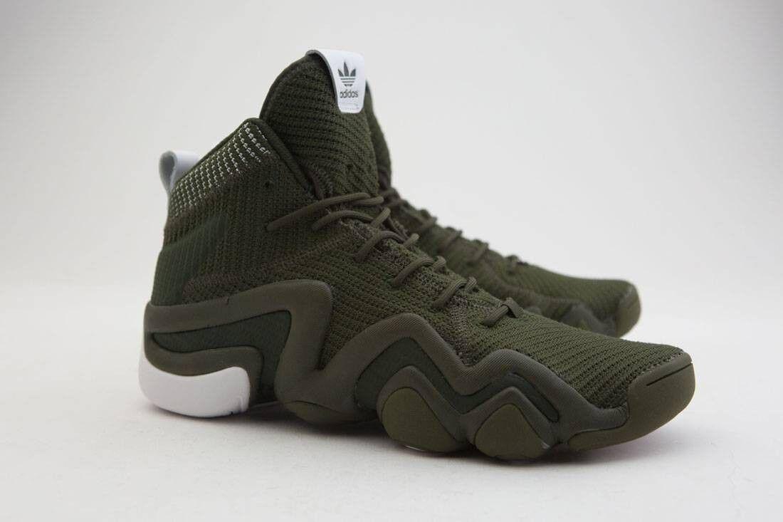 BY3604 Adidas Men Crazy 8 ADV Primeknit olive night cargo footwear Weiß