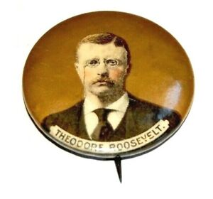"""1904 TEDDY ROOSEVELT 1.25"""" theodore campaign pin pinback button badge political"""