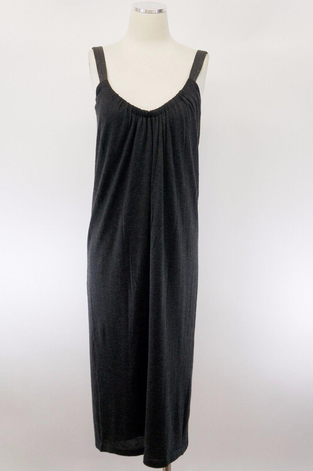 2b5d56cf NWOT 2475 Brunello Cucinelli Sparkly Monili Strap Beaded Knit Dress Size M  A176