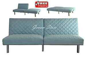 Futon sofa bed quilted memory foam convertible sleeper for Foam convertible sofa bed