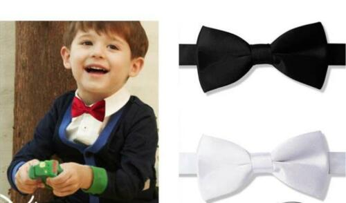 Young Boy/'s Dressy Satin Adjustable Bow Ties A Variety of Colors To Choose