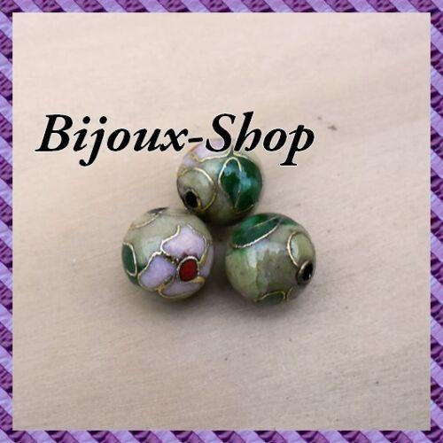 Hand Bemalt 10 mm Olives 25 Perlen Metall