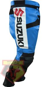 Ebay Motors New Suzuki Gsx Motorbike Motorcycle Biker Cowhide Leather Armoured Pant/trouser