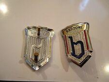 1 Fregio stemma logo ALFA ROMEO BERTONE metallo 41x28 badge emblem escudo RARE