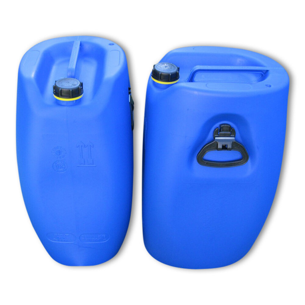 2 x 60 L Trinkwasserkanister Trinkwasserkanister L Behälter Tank Box dicht lebensmittelecht 3 Griffe. 713c5c
