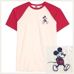 0b69b378c Disney Mickey Mouse Red Cream Raglan Baseball T-Shirt by Junk Food ...