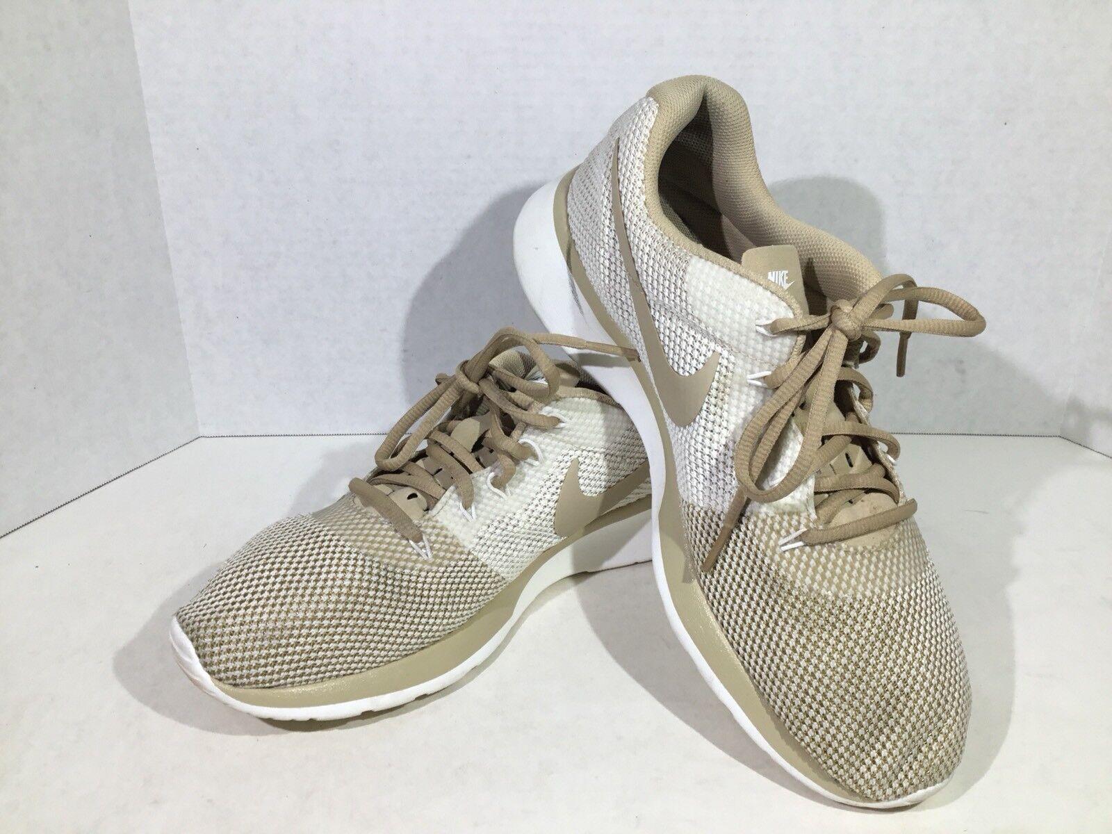 Nike Tanjun Racer 921668-200 Womens Sz 10 Mushroom Running Athletic Shoes F4-841