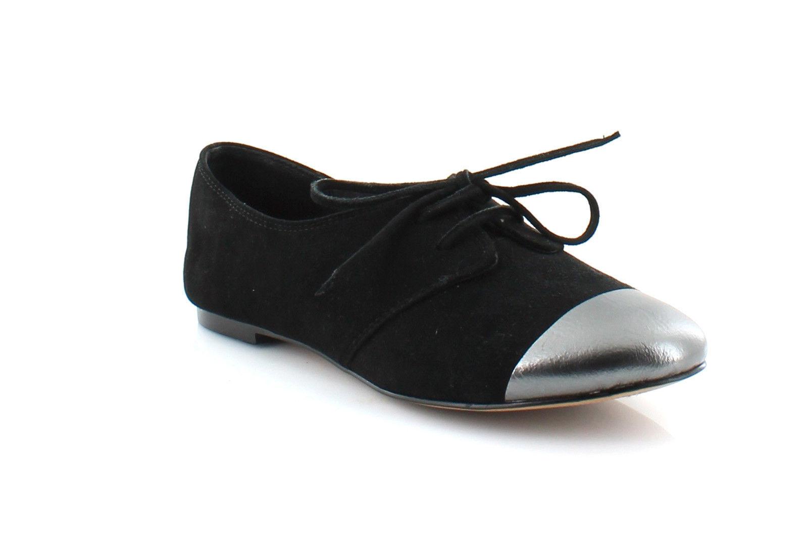 160 Splendid Nickerie Womens Suede Designer Oxford shoes, Black, New NIB