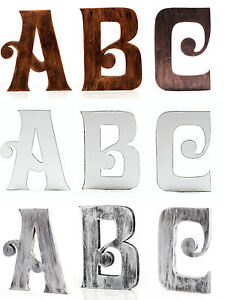Details About Extra Large 8 Inch 20 Cm Vintage Wooden Letters Free Standing A To Z Alphabets