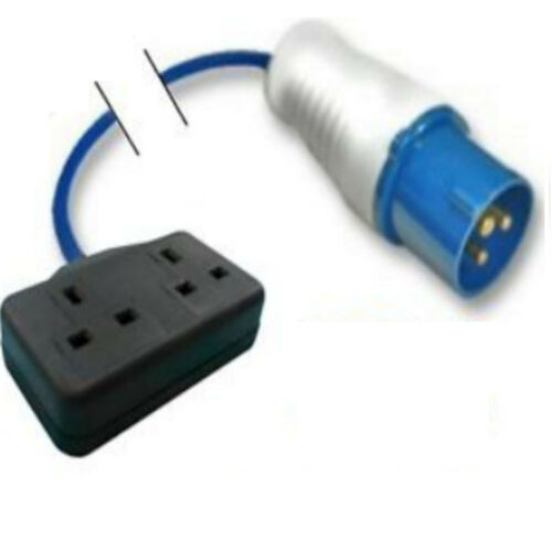 13A DOUBLE SOCKET Camping 10 Metre GENERATOR FLY LEAD 16A PLUG
