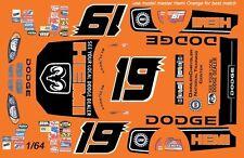 #19 Jeremy Mayfield Hemi Dodge 2004 1/64th HO Scale Slot Car Waterslide Decals