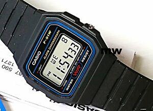1beca09872be CASIO F91W-1A DIGITAL BLACK RESIN Classic Sports Alarm Chronograph ...